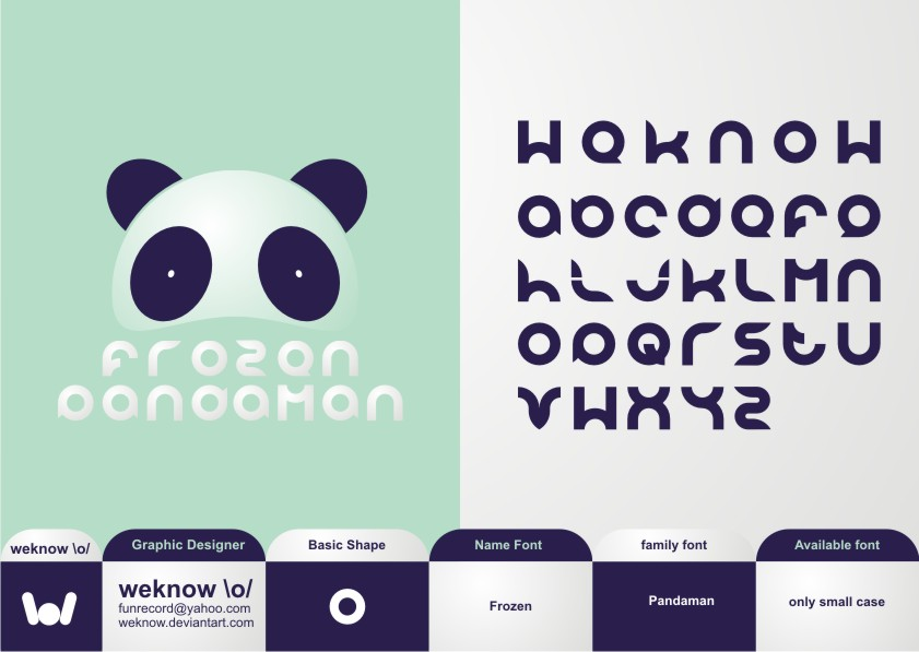pandaman font by weknow