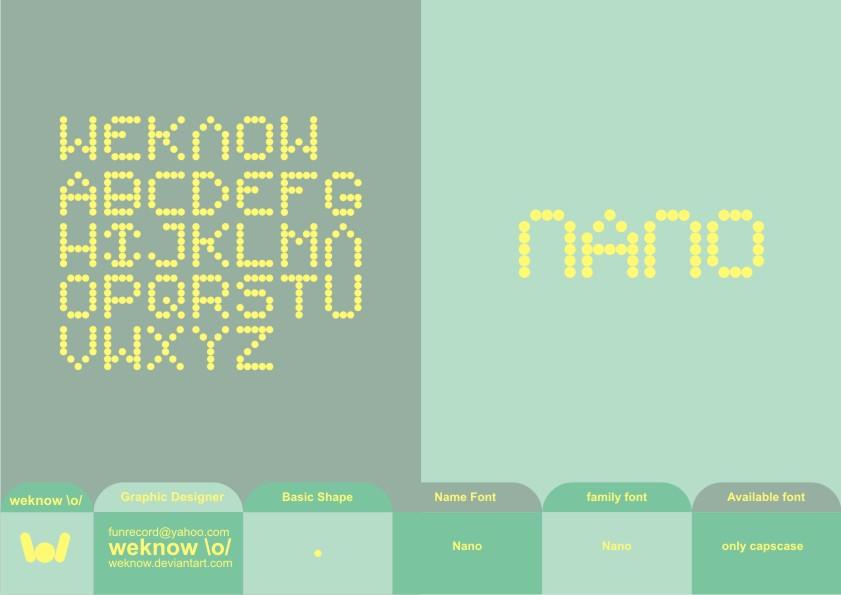 nano_font_byweknow by weknow