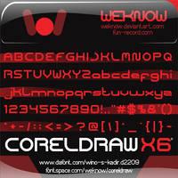 coreldraw font by weknow by weknow