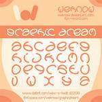 graphic dream font by weknow