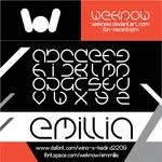 emmilia font by weknow