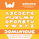 dominique font by weknow