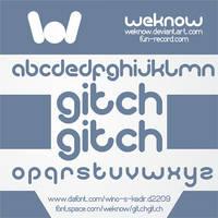 gitchgitch font by weknow