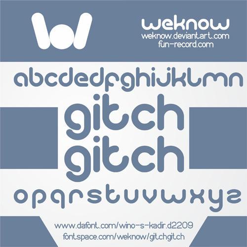 gitchgitch font