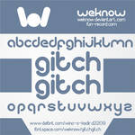 gitchgitch font by weknow