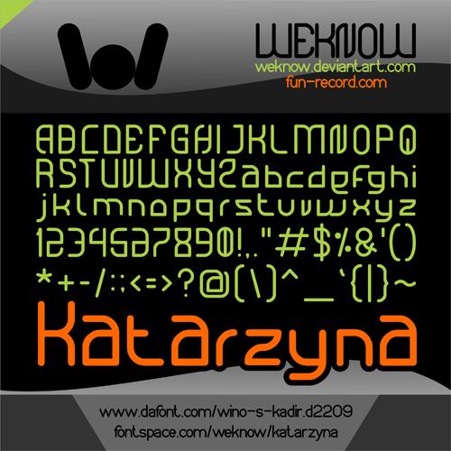 katarzyna font by weknow