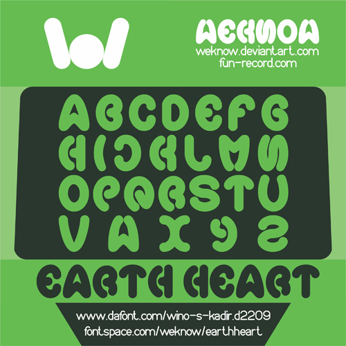 earth heart font by weknow