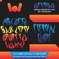 eternal flame font by weknow by weknow