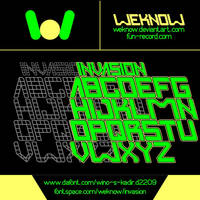 Invasion font  by weknow by weknow