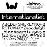 Internationalist font by weknow