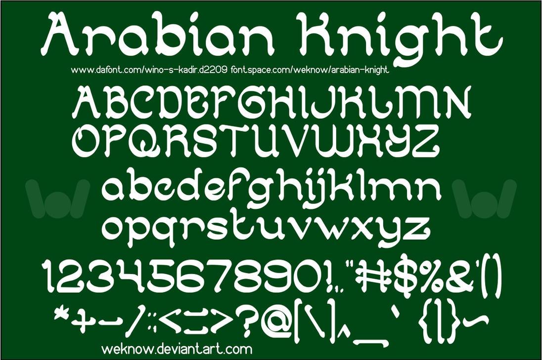 Arabian Knight font by weknow