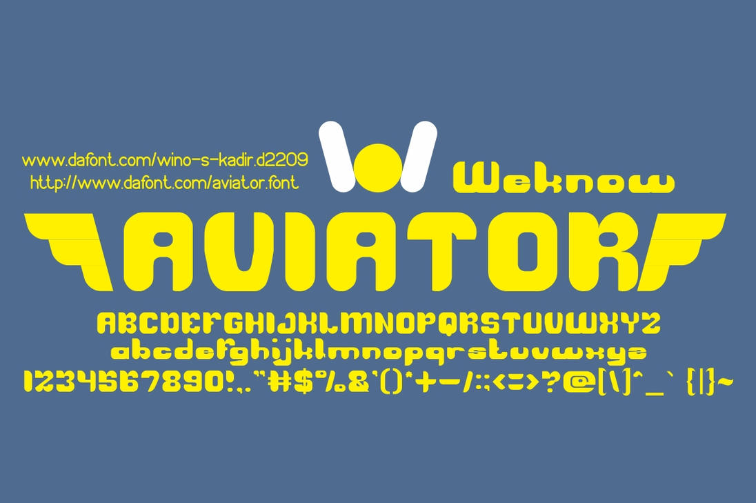 aviator font by weknow