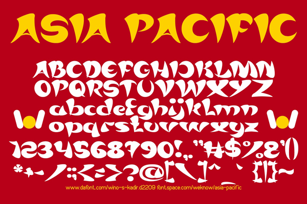 asia pacific font by weknow by weknow