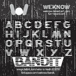 bandit font by weknow