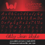 billy jean style font by weknow