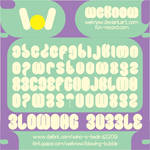 blowing bubble font by weknow