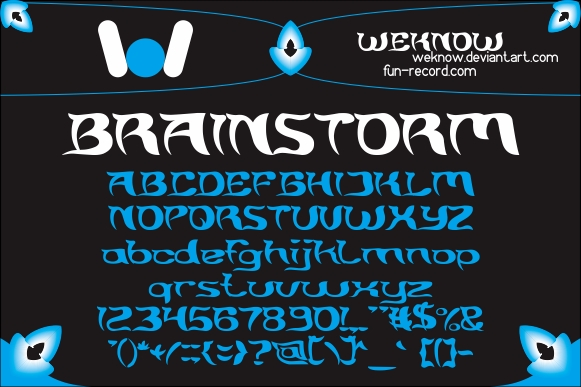 brainstorm font by weknow