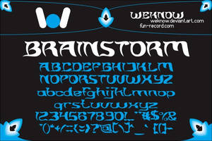 brainstorm font by weknow by weknow