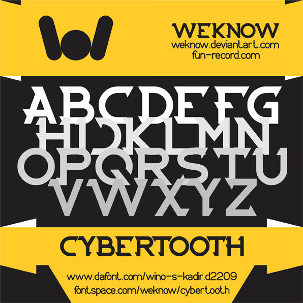cybertooth font by weknow