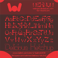 delicious ketchup font by weknow by weknow