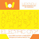 electric city font by weknow