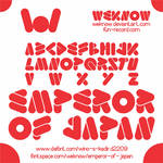 emperor of japan font by weknow
