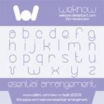 essential arrangement font by weknow
