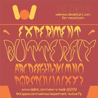 experiment butterfly font by weknow by weknow