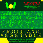 Fruit And Vegetable font by weknow
