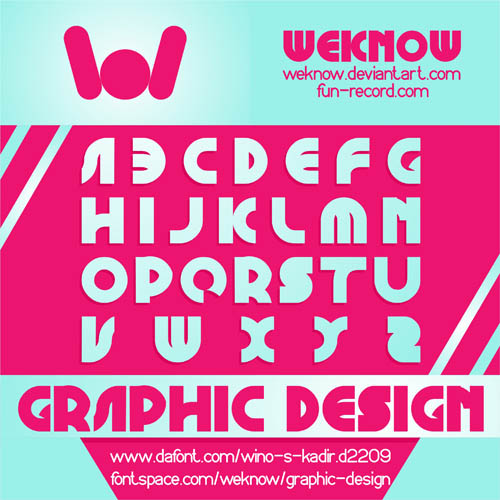 Graphic Design font by weknow