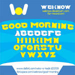 Good Morning font by weknow