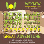 Great Adventure font by weknow