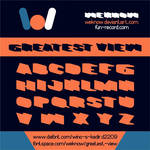 Greatest View font by weknow