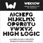high logic font by weknow