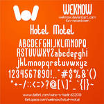 Hotel Motel font by weknow