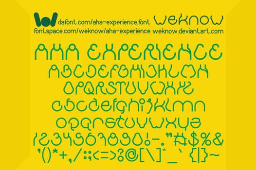 Aha Experience font