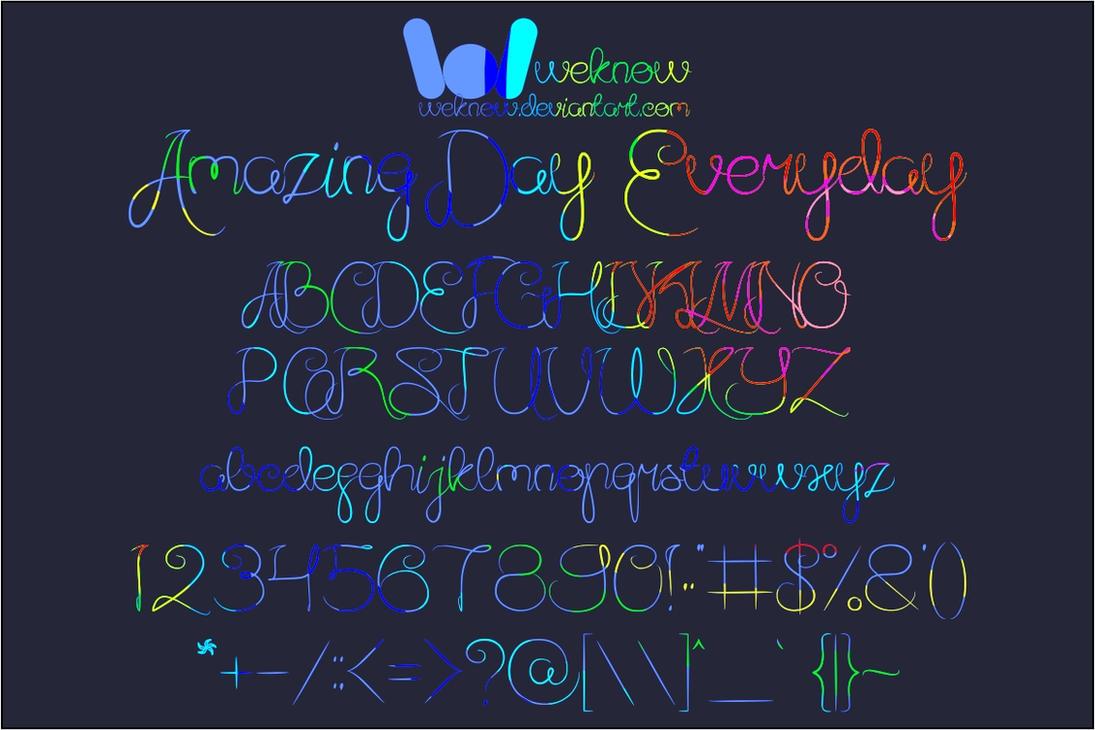 Amazing Day Everyday by weknow