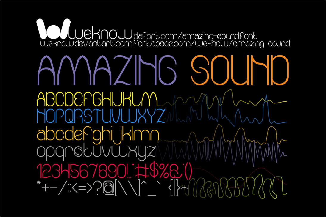 Amazing Sound font by weknow