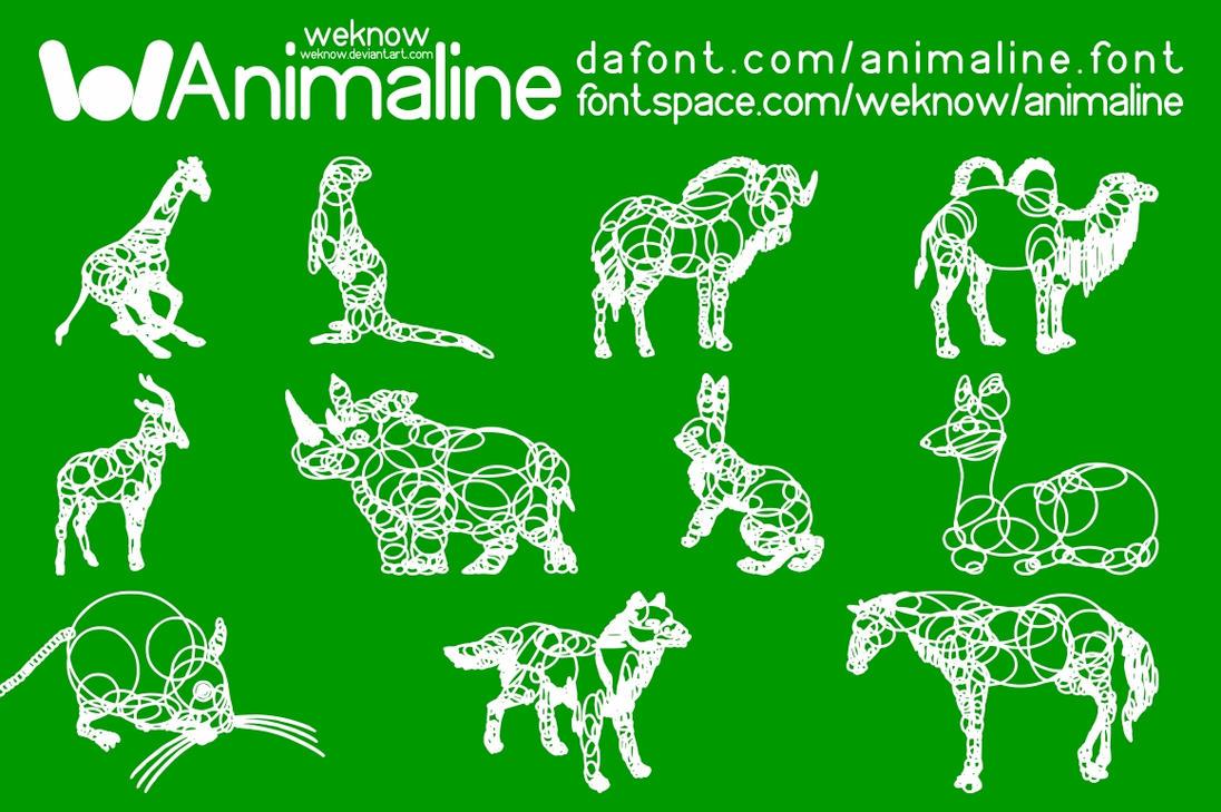 animaline dingbat font by weknow