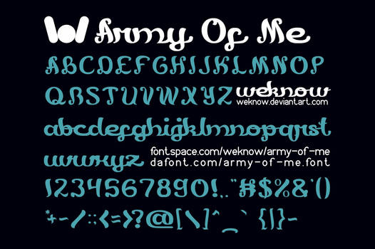 army of me font