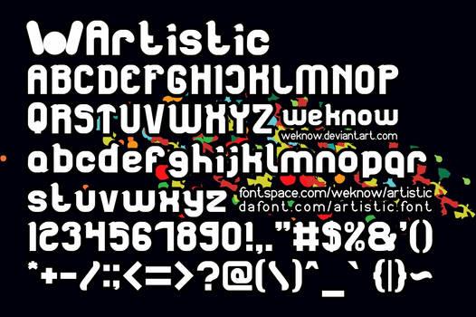 Artistic font