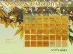 NaNoWriMo 2011 Calendar