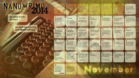 2014 NaNoWriMo Calendar by Kiriska