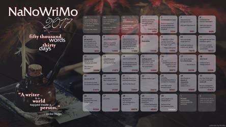 2017 NaNoWriMo Calendar