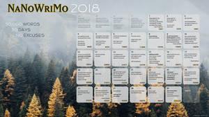 2018 NaNoWriMo Calendar