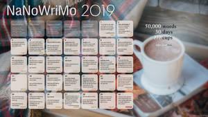 2019 NaNoWriMo Calendar