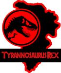 Jurassic Park Tyrannosaurus Rex Paddock sign