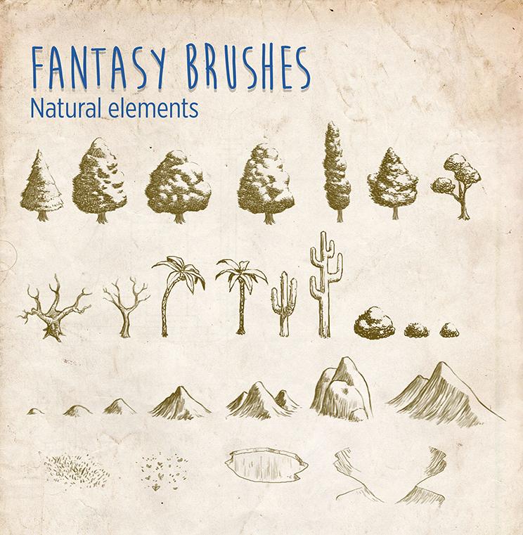 Fantasy Brushes - Natural Elements by mrbiagy