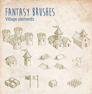 Fantasy Brushes - Village Elements