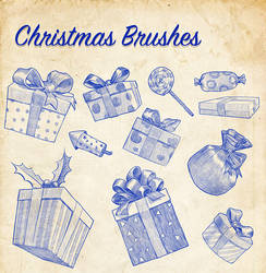 Christmas Brushes by mrbiagy